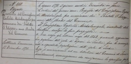 proposta di delibera 1891