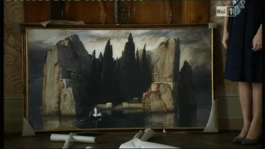 Ischia, il Castello Aragonese e l'Isola dei Morti di Arnold Böcklin
