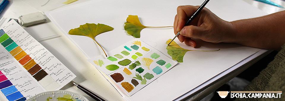 Ischia, laboratorio di pittura botanica ai Giardini La Mortella